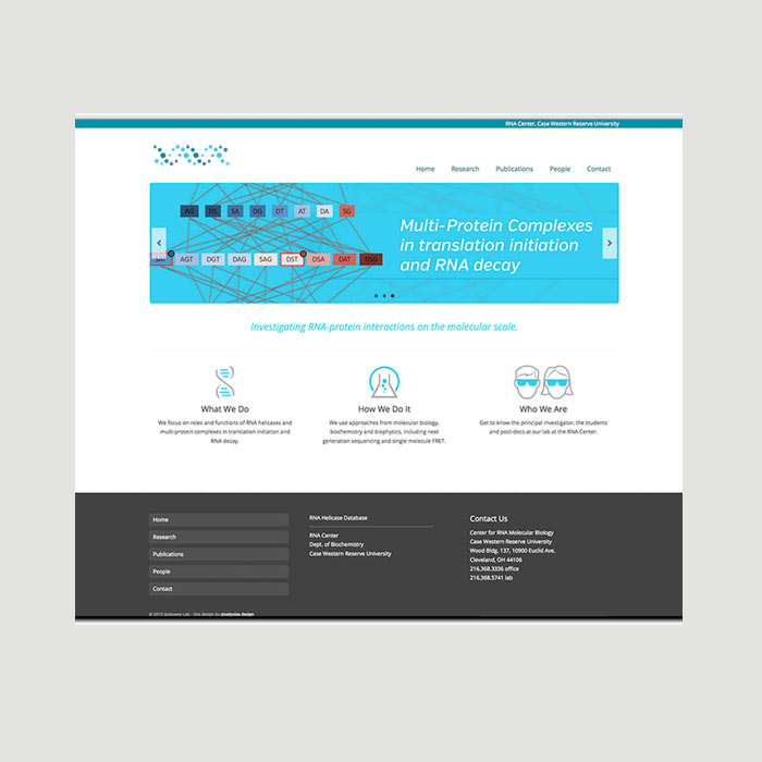 Example of web design by pixelpoise design